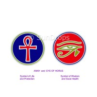 Sunlight Window Sticker - Ankh and Eye of Horus