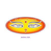 Sunlight Window Sticker - Buddha Eyes