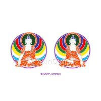 Sunlight Window Sticker - Buddha (Orange)