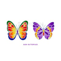 Sunlight Window Sticker - Bush Butterflies