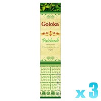 Goloka Divine Series - Patchouli - 15g x 3