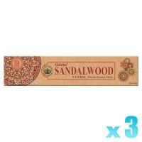 Goloka Organica Series - Sandalwood - 15g x 3