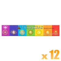 Green Tree Incense Sticks - 7 Chakras - 15g x 12