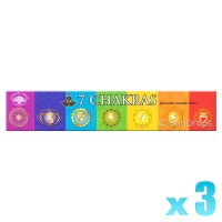 Green Tree Incense Sticks - 7 Chakras - 15g x 3