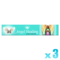 Green Tree Incense Sticks - Angel Healing - 15g x 3