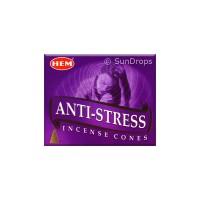 Hem Incense Cones - Anti-Stress - 1 Packet / 10 Cones