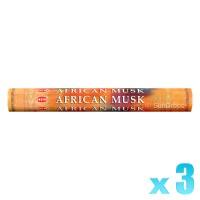 Hem Incense Sticks - African Musk - 3 Packets / 60 Sticks