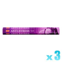 Hem Incense Sticks - Anti-Stress - 3 Packets / 60 Sticks