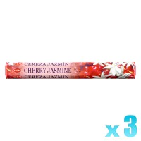 Hem Incense Sticks - Cherry Jasmine - 3 Packets / 60 Sticks