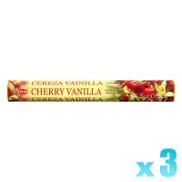 Hem Incense Sticks - Cherry Vanilla - 3 Packets / 60 Sticks