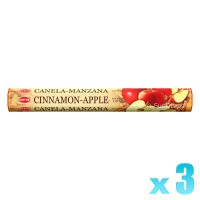 Hem Incense Sticks - Cinnamon Apple - 3 Packets / 60 Sticks