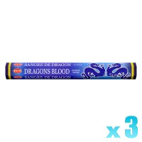 Hem Incense Sticks - Dragons Blood Blue - 3 Packets / 60 Sticks