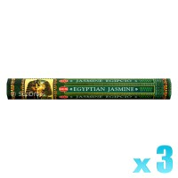 Hem Incense Sticks - Egyptian Jasmine - 3 Packets / 60 Sticks