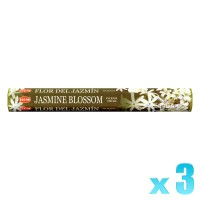 Hem Incense Sticks - Jasmine Blossom - 3 Packets / 60 Sticks