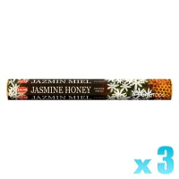 Hem Incense Sticks - Jasmine Honey - 3 Packets / 60 Sticks