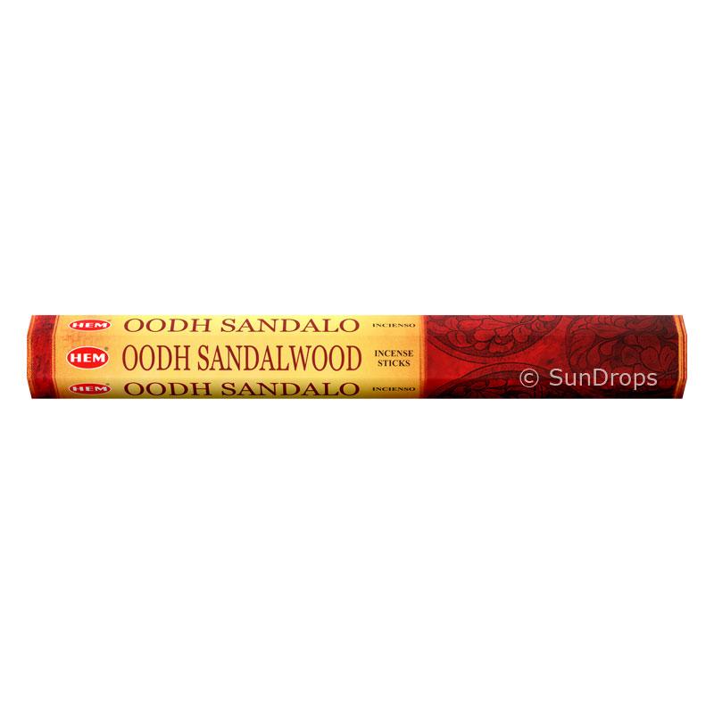 Hem Incense Sticks - Oodh Sandalwood - 1 Packet / 20 Sticks