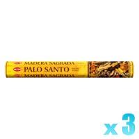 Hem Incense Sticks - Palo Santo (Holy Wood) - 3 Packets / 60 Sticks