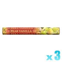 Hem Incense Sticks - Pear Vanilla - 3 Packets / 60 Sticks
