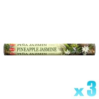 Hem Incense Sticks - Pineapple Jasmine - 3 Packets / 60 Sticks