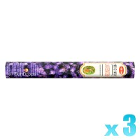 Hem Incense Sticks - Precious Lavender - 3 Packets / 60 Sticks