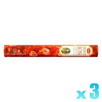 Hem Incense Sticks - Precious Rose - 3 Packets / 60 Sticks