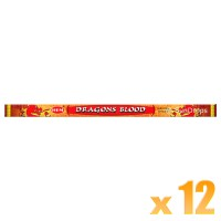 Hem Incense Sticks - Dragons Blood - 12 Packets / 96 Sticks