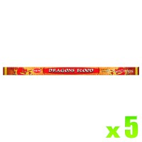 Hem Incense Sticks - Dragons Blood - 5 Packets / 40 Sticks
