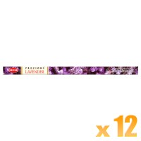 Hem Incense Sticks - Precious Lavender - 12 Packets / 96 Sticks
