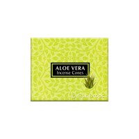 Kamini Incense Cones - Aloe Vera - 1 Packet / 10 Cones