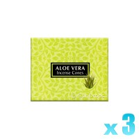 Kamini Incense Cones - Aloe Vera - 3 Packets / 30 Cones