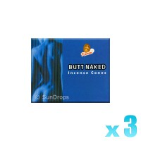 Kamini Incense Cones - Butt Naked - 3 Packets / 30 Cones