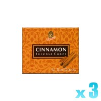 Kamini Incense Cones - Cinnamon - 3 Packets / 30 Cones