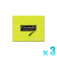 Kamini Incense Cones - Citronella - 3 Packets / 30 Cones