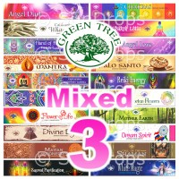 Green Tree Incense Sticks - Mixed Pack - 15g x 3