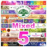 Green Tree Incense Sticks - Mixed Pack - 15g x 5