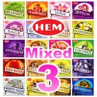 Mixed Hem Incense Cones - 3 Packets / 30 Cones