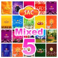 Mixed Sandesh Incense Cones - 5 Packets / 50 Cones