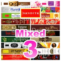 Nandita Incense Sticks - Mixed Pack - 15g x 3