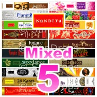 Nandita Incense Sticks - Mixed Pack - 15g x 5