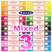 Satya Incense Sticks - Mixed Pack - 15g x 3