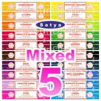 Satya Incense Sticks - Mixed Pack - 15g x 5