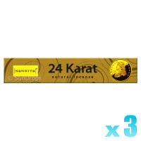 Nandita Incense Sticks - 24 Karat - 15g x 3