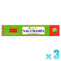 Nandita Incense Sticks - Original Nag Champa - 15g x 3