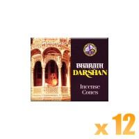 Asoka Incense Cones - Bharath Darshan - 12 Packets / 120 Cones