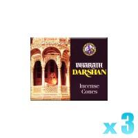 Asoka Incense Cones - Bharath Darshan - 3 Packets / 30 Cones
