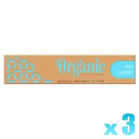 R-Expo Incense Sticks - Organic Nag Champa - 15g x 3