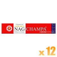 Vijayshree Incense Sticks - Golden Nag Champa - 15g x 12