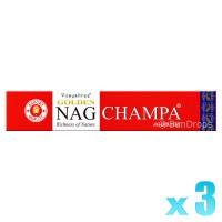 Vijayshree Incense Sticks - Golden Nag Champa - 15g x 3