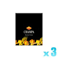 Sandesh Incense Cones - Champa - 3 Packets / 30 Cones