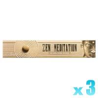 Sandesh Incense Sticks - Zen Meditation - 15g x 3